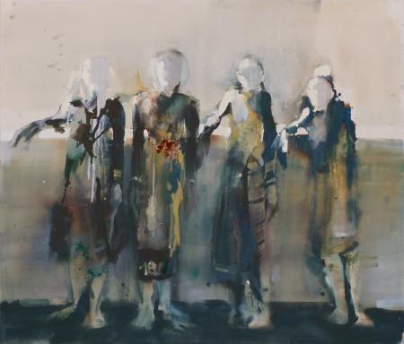 Aufstellung, Eitempera auf Leinwand, 130 x 150 cm, 2011