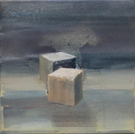 Basis, Eitempera auf Leinwand, 30 x 30 cm, 2013