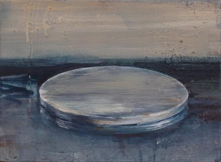 blank, Eitempera auf Leinwand, 30 x 40cm, 2013