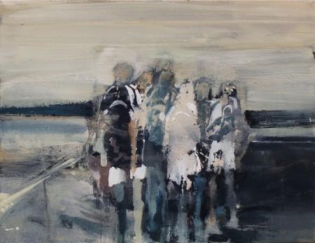 Kleine Gruppe, Eitempera auf Leinwand, 55 x 70 cm, 2013