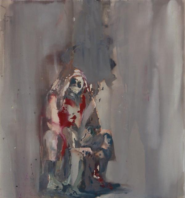 Orakel, Eitempera auf Leinwand, 150 x 140 cm, 2011