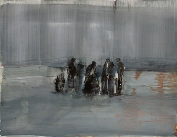ohne Titel, Eitempera auf Papier, k.A., 2011