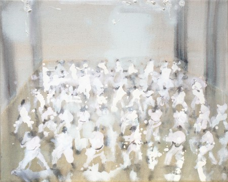 ohne Titel, Eitempera auf Leinwand, 40 x 50 cm, 2012