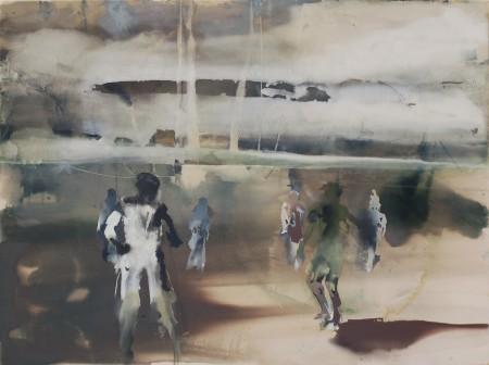 Queren, Eitempera auf Leinwand, 150 x 200 cm, 2013