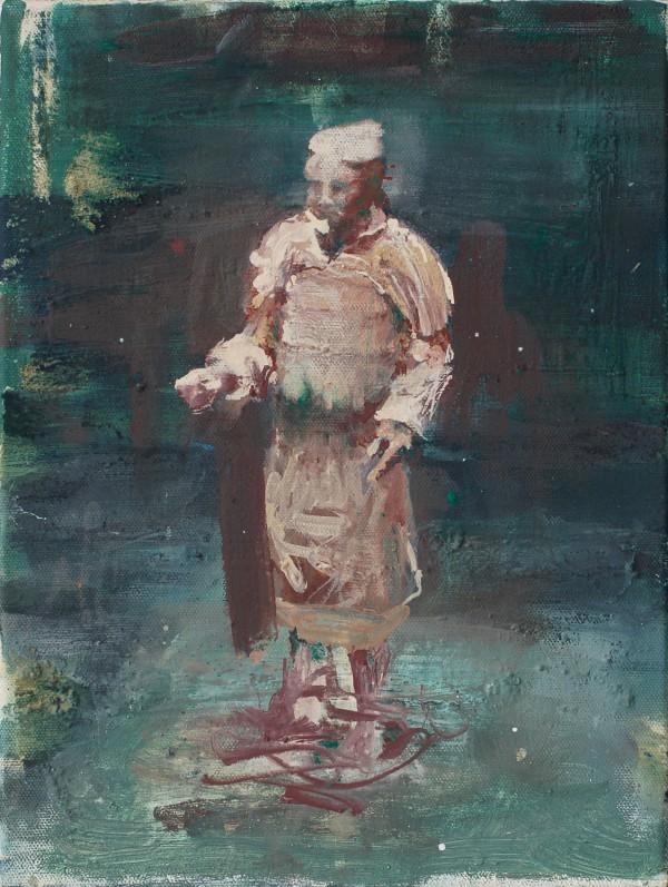 Standbild, Eitempera auf Leinwand, 40 x 30 cm, 2013