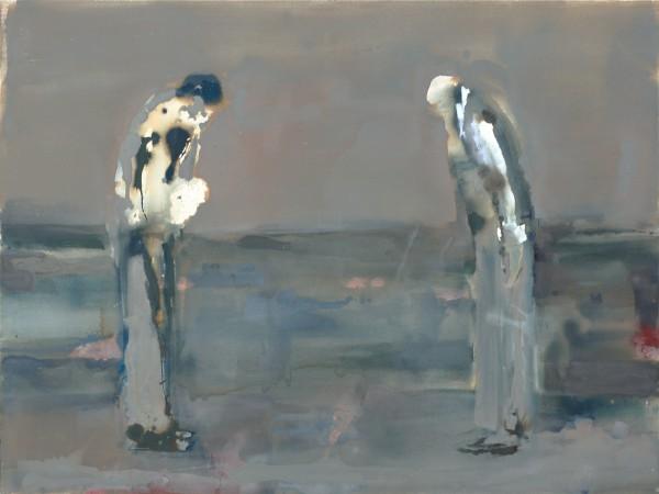 Verneigung, Eitempera auf Leinwand, 150 x 200 cm, 2011