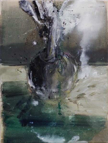Vertrautes Terrain, Eitempera auf Leinwand, 40 x 30 cm, 2011