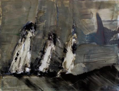 Prozession, Eitempera auf Papier, o.A., 2011